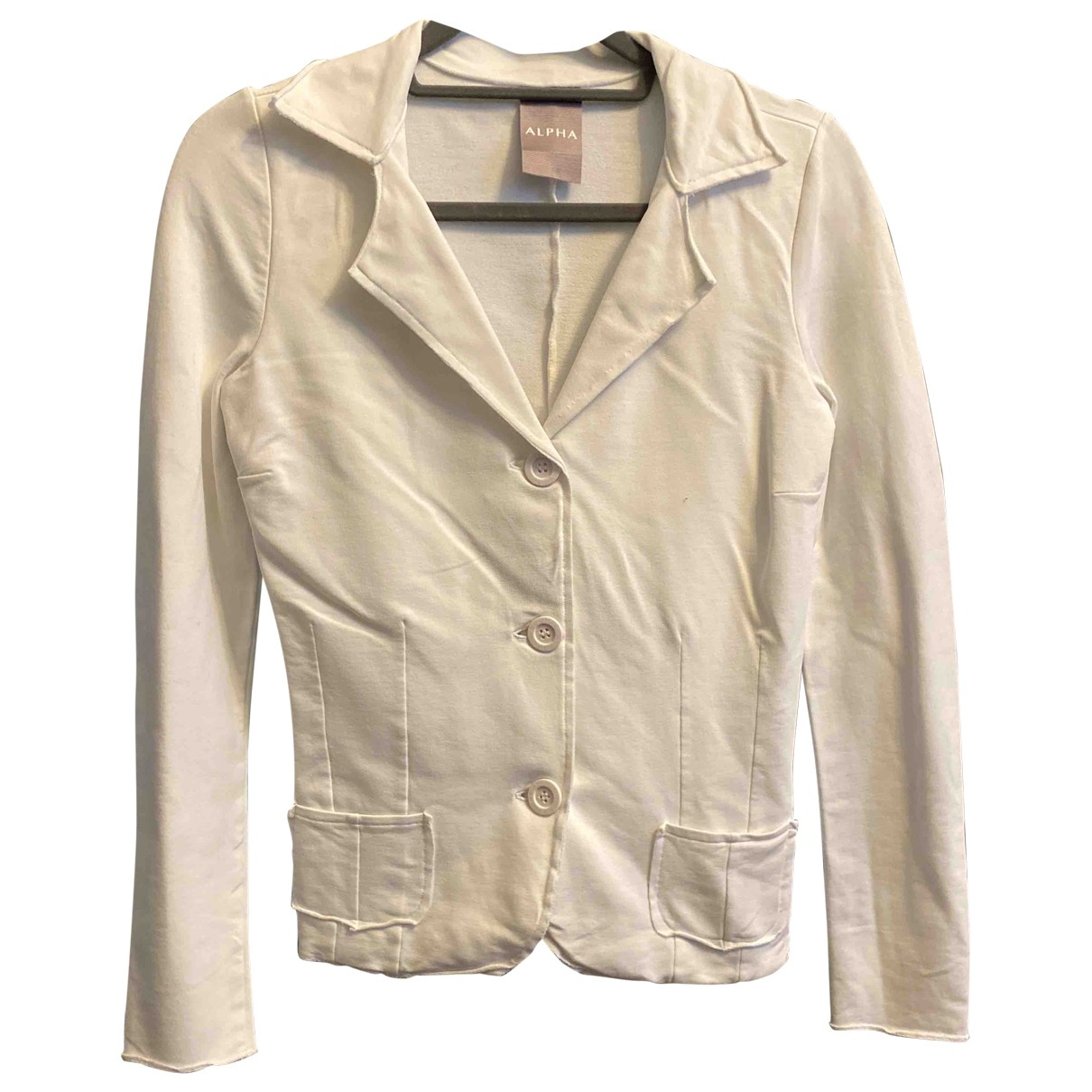 Non Signé / Unsigned \N White Cotton jacket for Women XS International