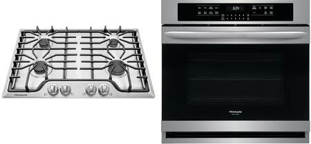 2-Piece Kitchen Appliances Package with FFGC3026SS 30 Gas Cooktop and FGEW3066UF 30 Electric Single Wall Oven in Stainless