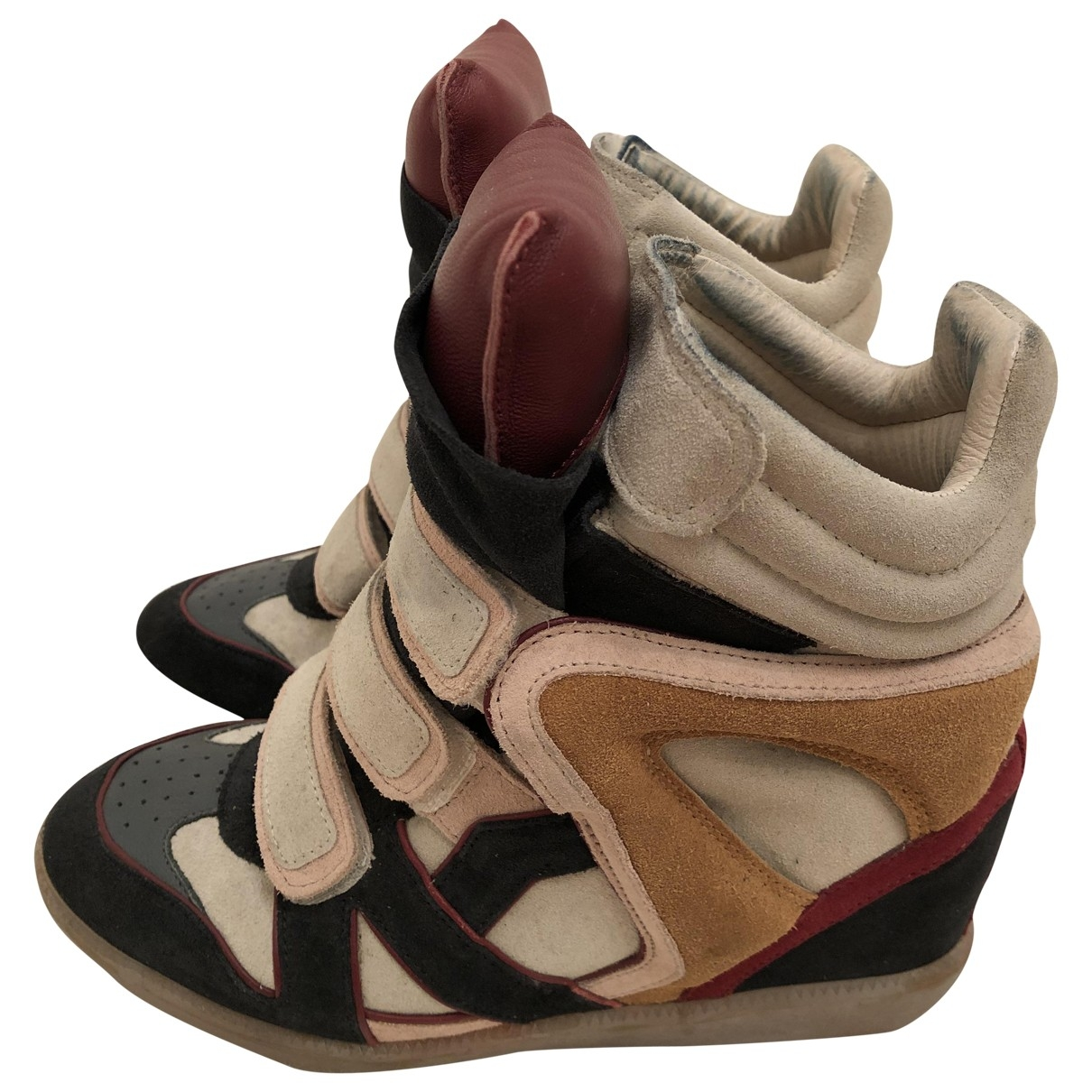 Isabel Marant Bayley Multicolour Suede Trainers for Women 38 EU