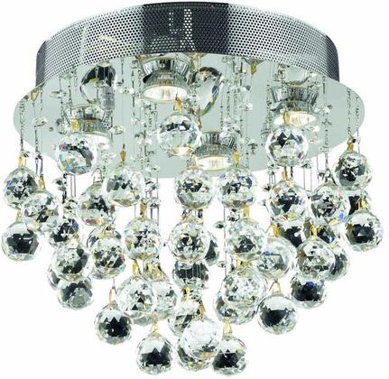 V2006F14C/RC 2006 Galaxy Collection Flush Mount D:14In H:14In Lt:4 Chrome Finish (Royal Cut