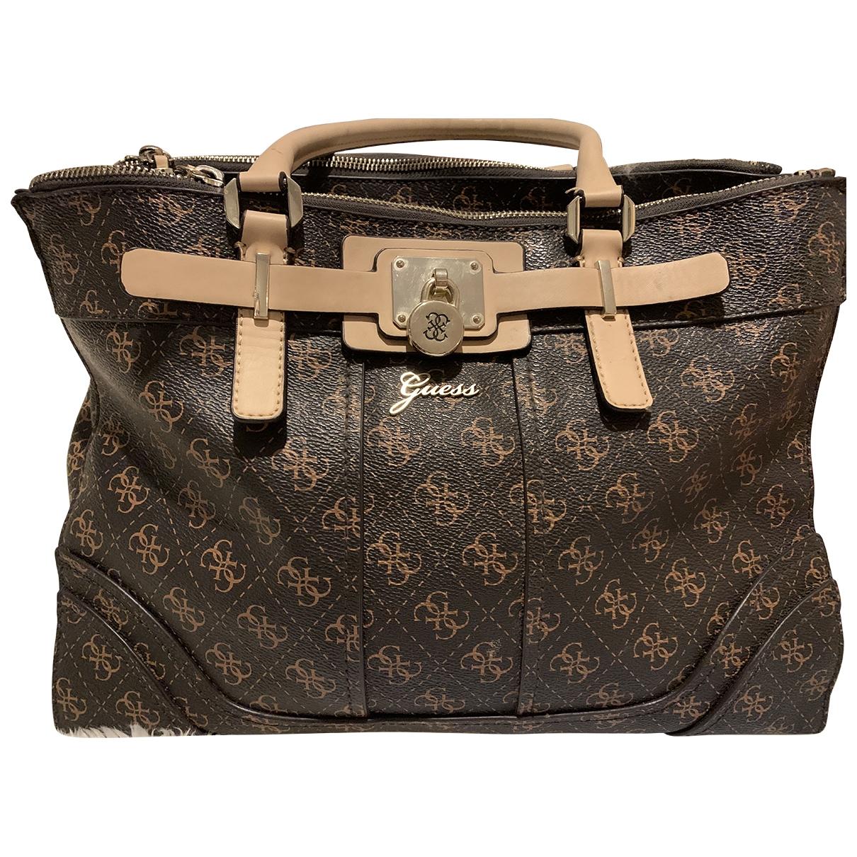 Guess \N Brown handbag for Women \N