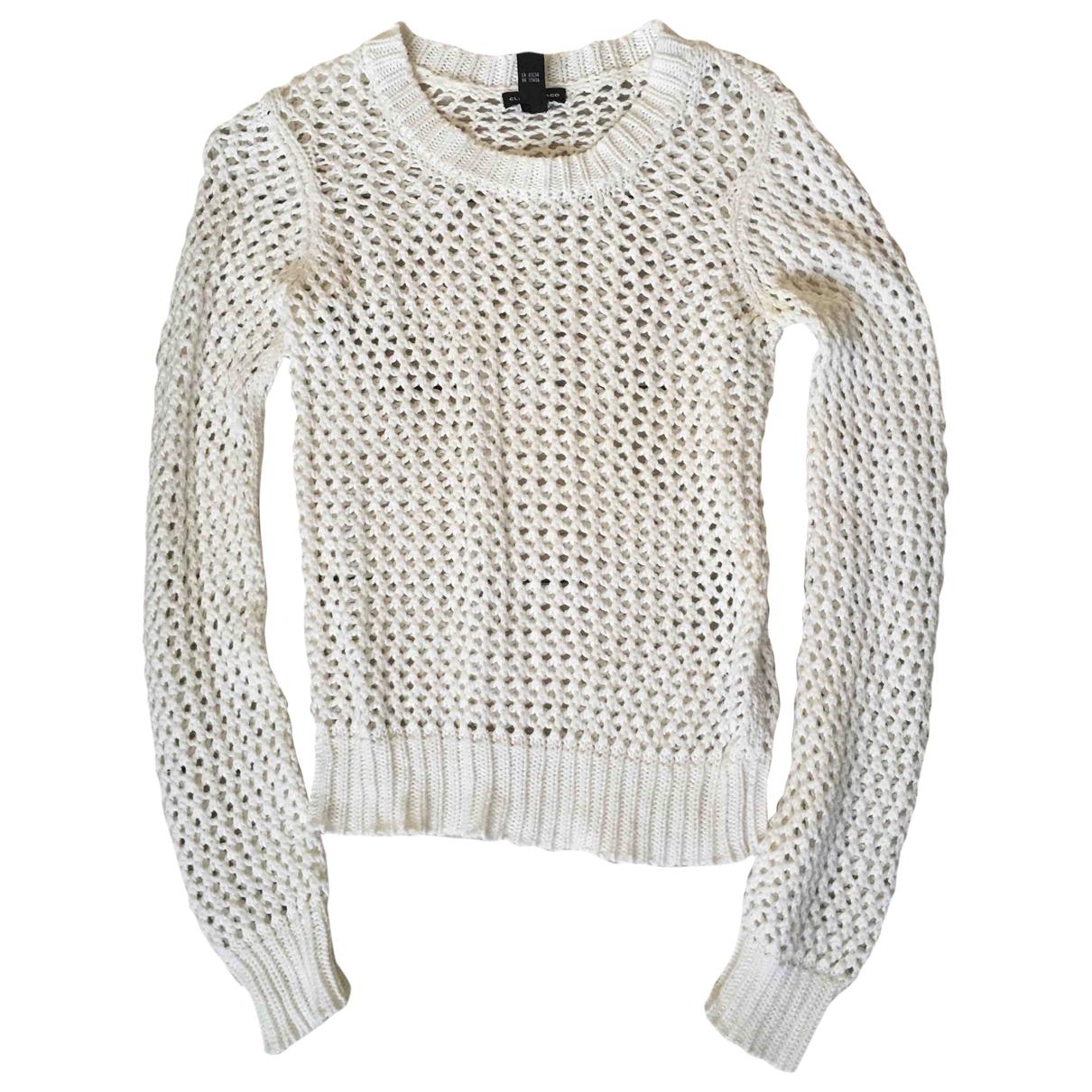 Club Monaco - Pull   pour femme en coton - blanc