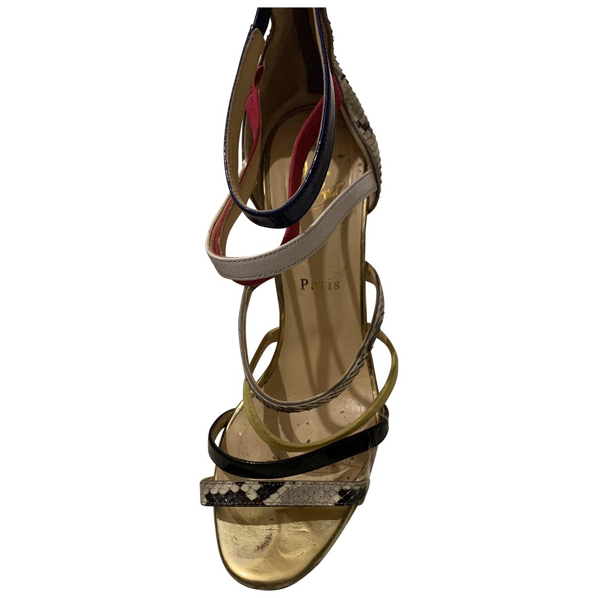 Christian Louboutin \N Multicolour Water snake Sandals for Women 39 EU
