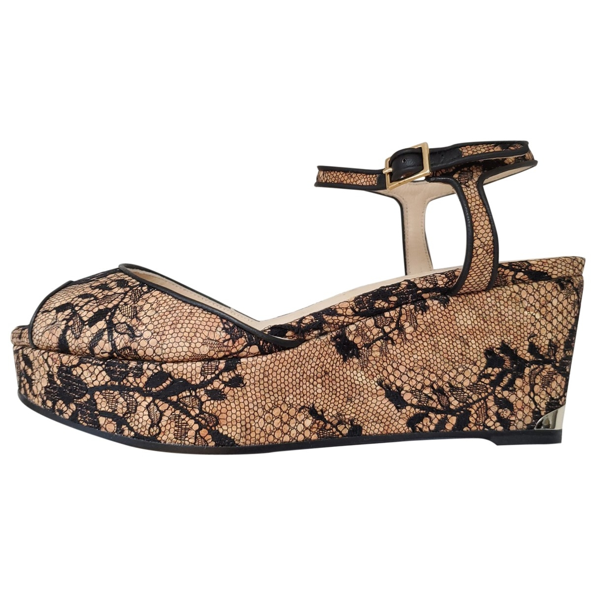 Jimmy Choo \N Camel Cloth Sandals for Women 37.5 EU