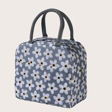 1 Stueck Mittagessen Tasche mit Blumen Muster