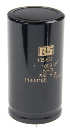 KEMET 1000μF Electrolytic Capacitor 250V dc, Through Hole - ALP20A102DE250