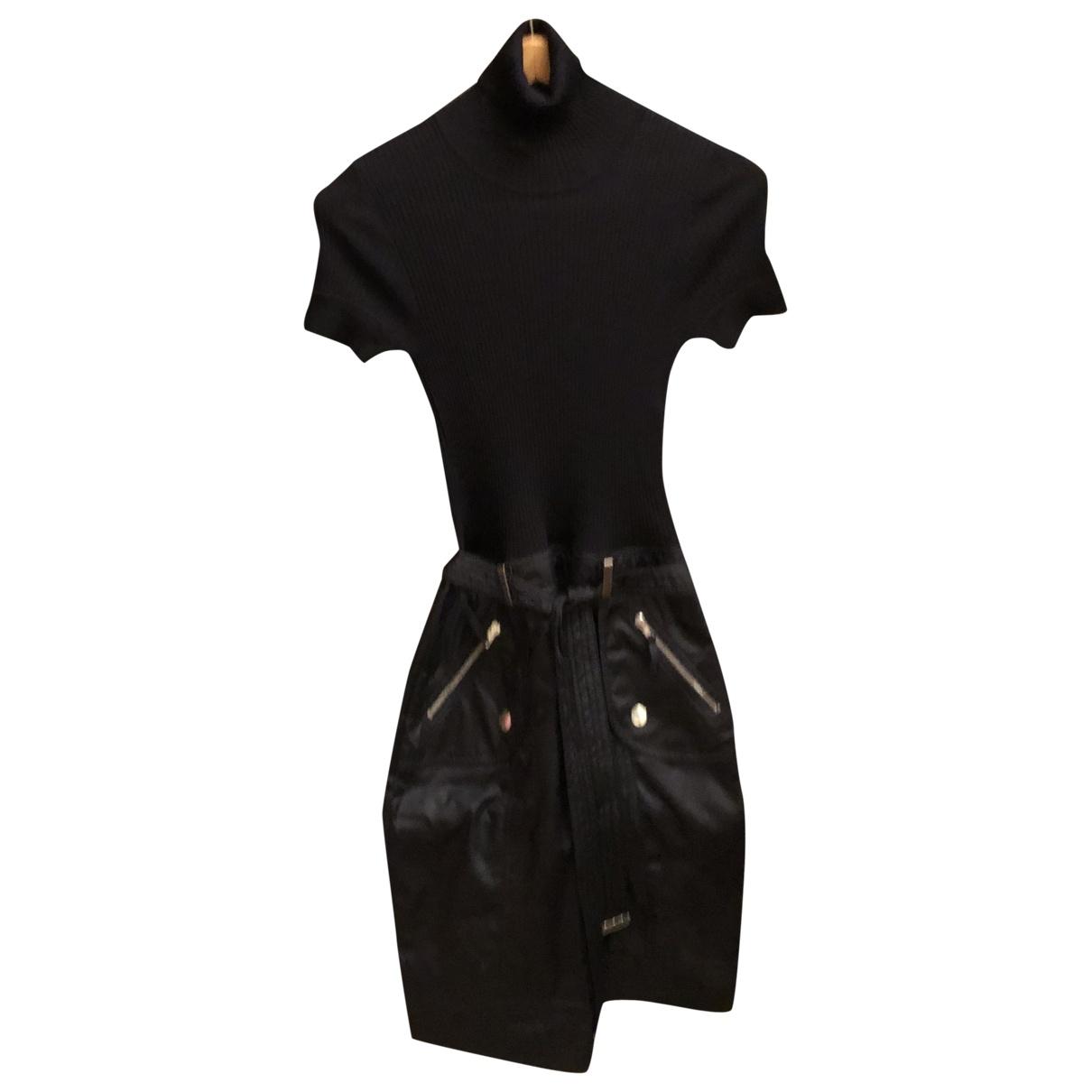 Paule Ka \N Kleid in  Schwarz Wolle