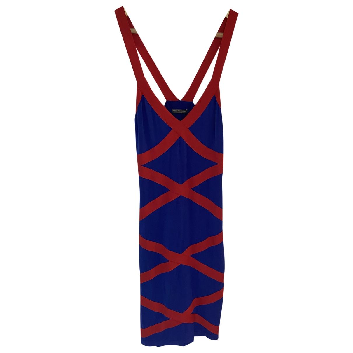 Alexander Mcqueen \N Kleid in  Blau Viskose