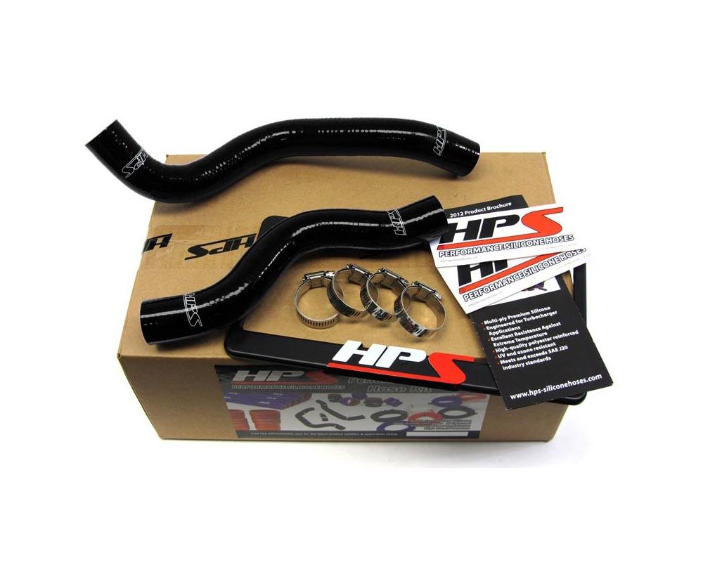 HPS Black Reinforced Silicone Radiator Hose Kit Coolant for Honda 12-15 Civic Non Si 1.8L