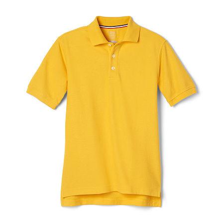 French Toast Big Boys Short Sleeve Polo Shirt, 16 Husky , Yellow