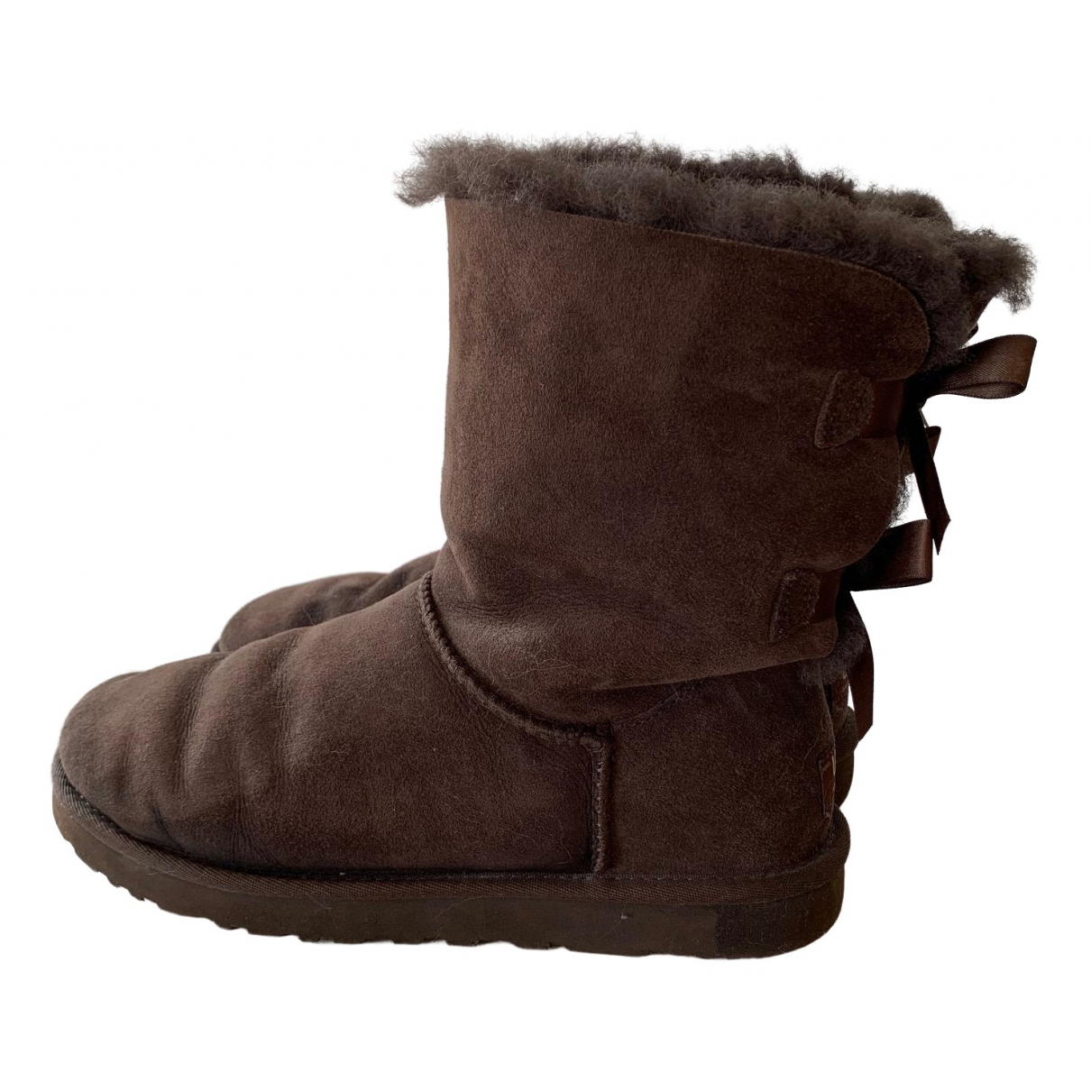 Ugg \N Brown Suede Boots for Women 8 US