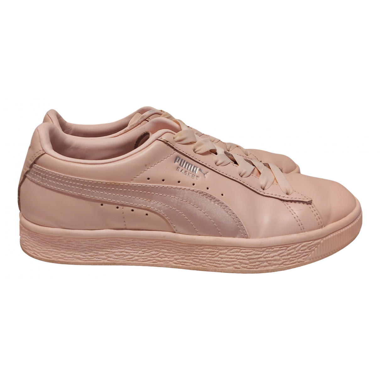 Puma N Pink Leather Trainers for Women 38 EU