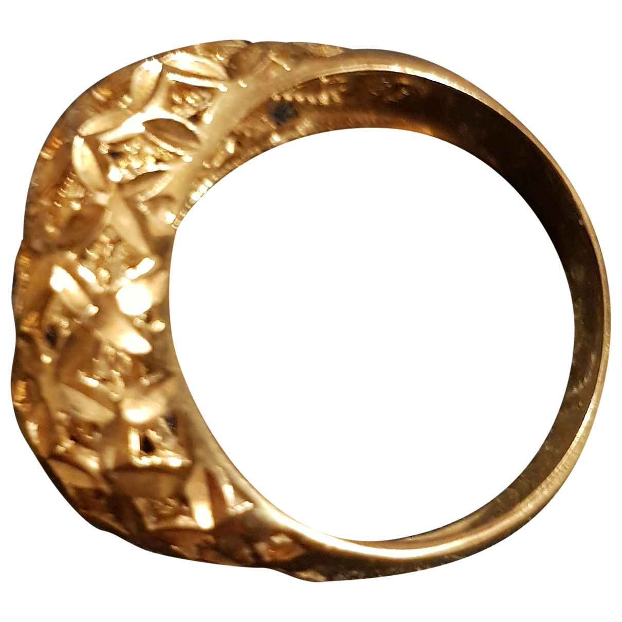 Non Signé / Unsigned \N Yellow Yellow gold ring for Women 44 MM