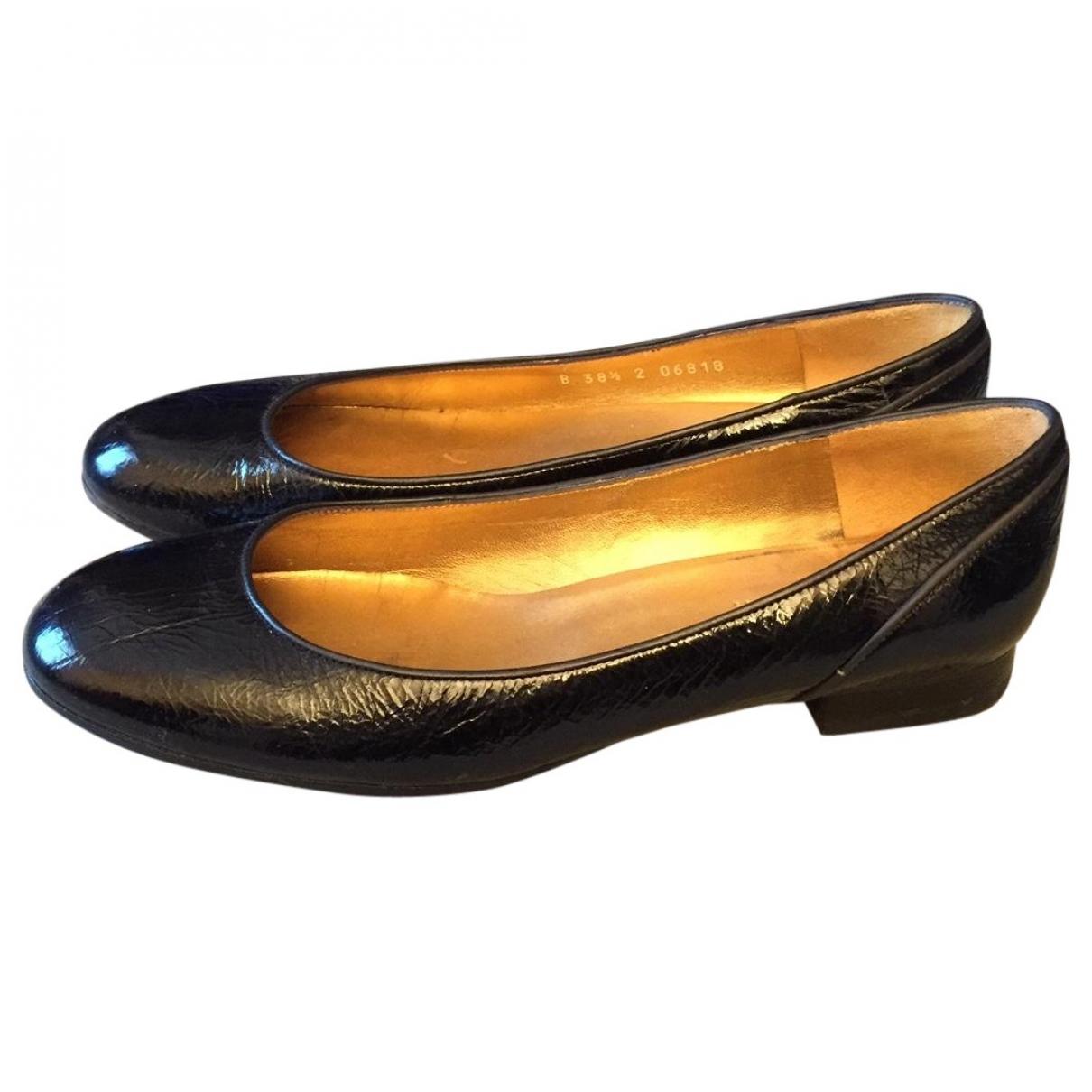 Charles Jourdan - Ballerines   pour femme en cuir verni - noir