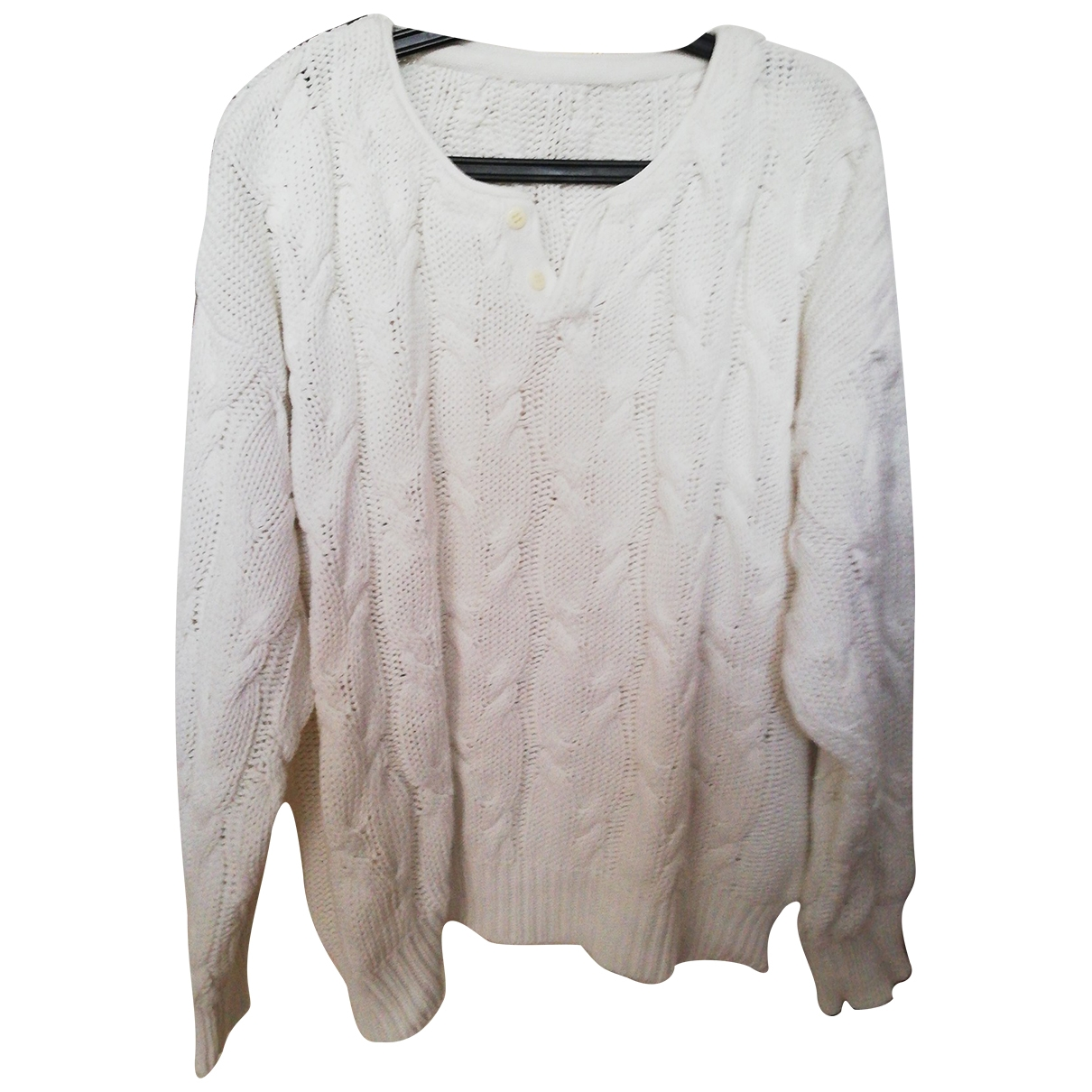 Non Signé / Unsigned \N White Cotton Knitwear for Women L International