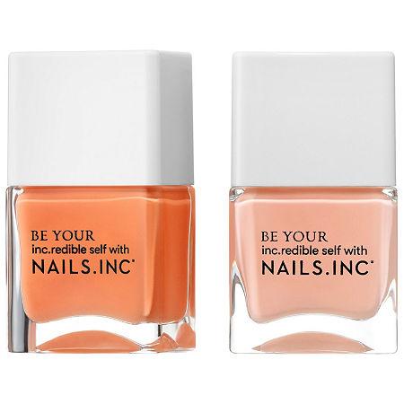 NAILS INC. Kiss My Peach Duo Nail Set, One Size , Orange