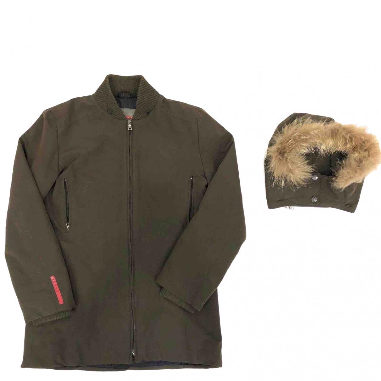 Prada - Manteau   pour femme en fourrure - marron
