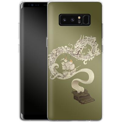 Samsung Galaxy Note 8 Silikon Handyhuelle - Unleashed Imagination von Enkel Dika