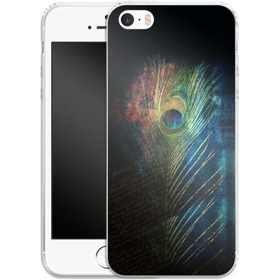 Apple iPhone SE Silikon Handyhuelle - Peacock Feather von Mark Ashkenazi