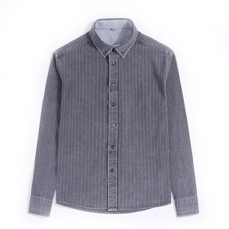 Mens Fashion Striped Square Collar Casual Shirts