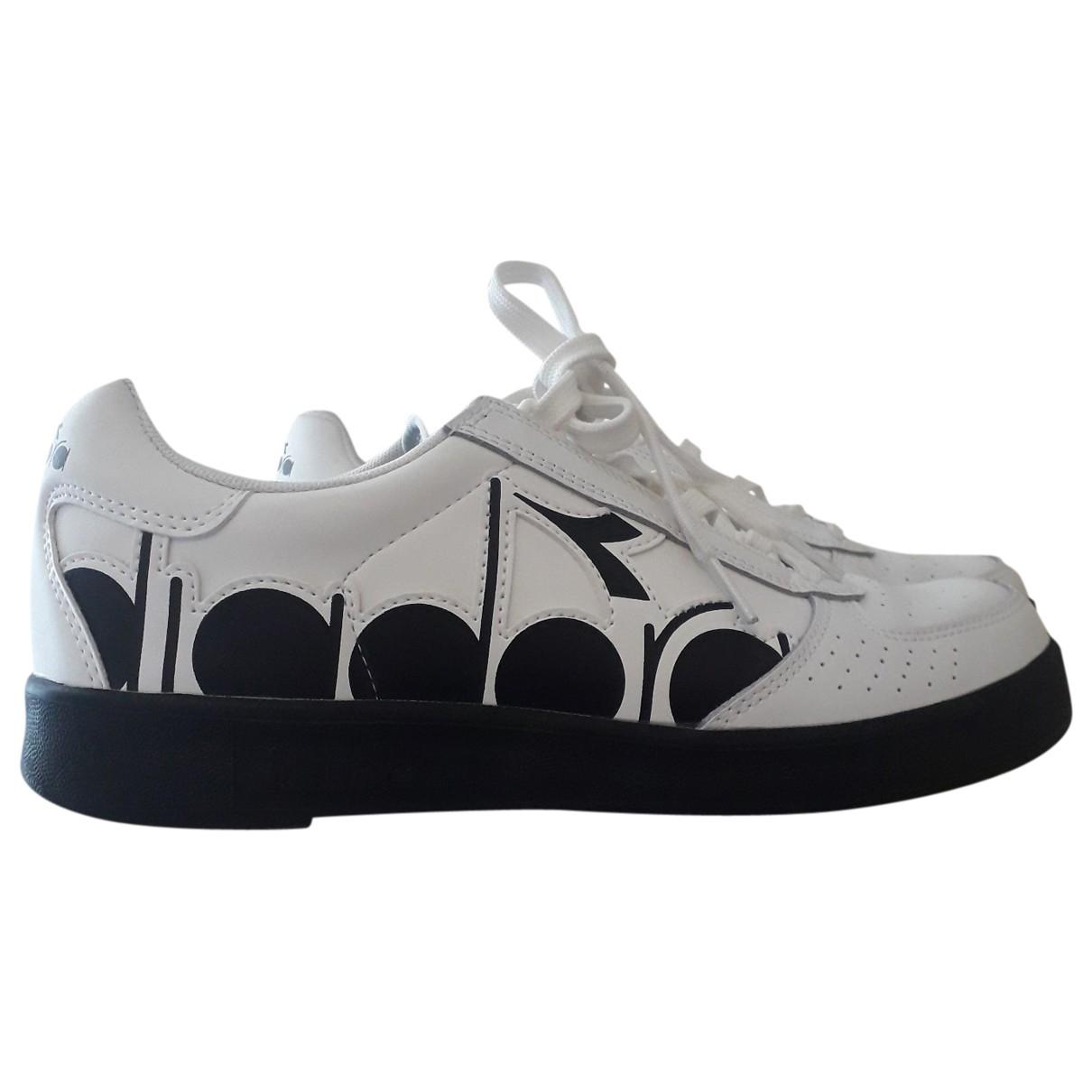 Diadora - Baskets   pour homme en cuir - blanc