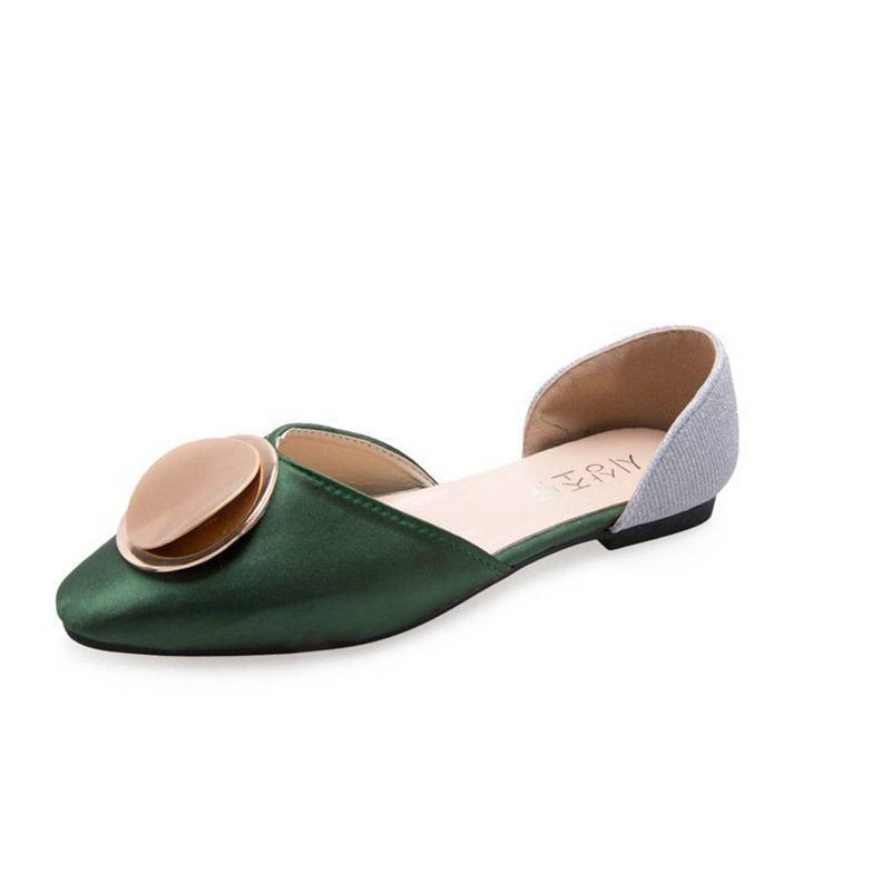 Ericdress PU Color Block Round Toe Slip-On Women's Flats