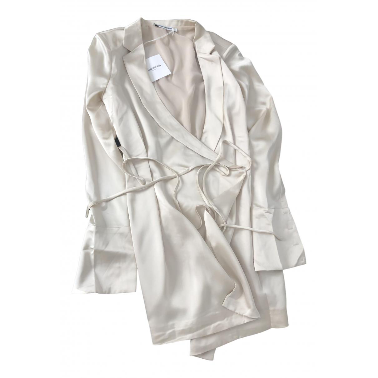 Orseund Iris \N Kleid in  Beige Polyester