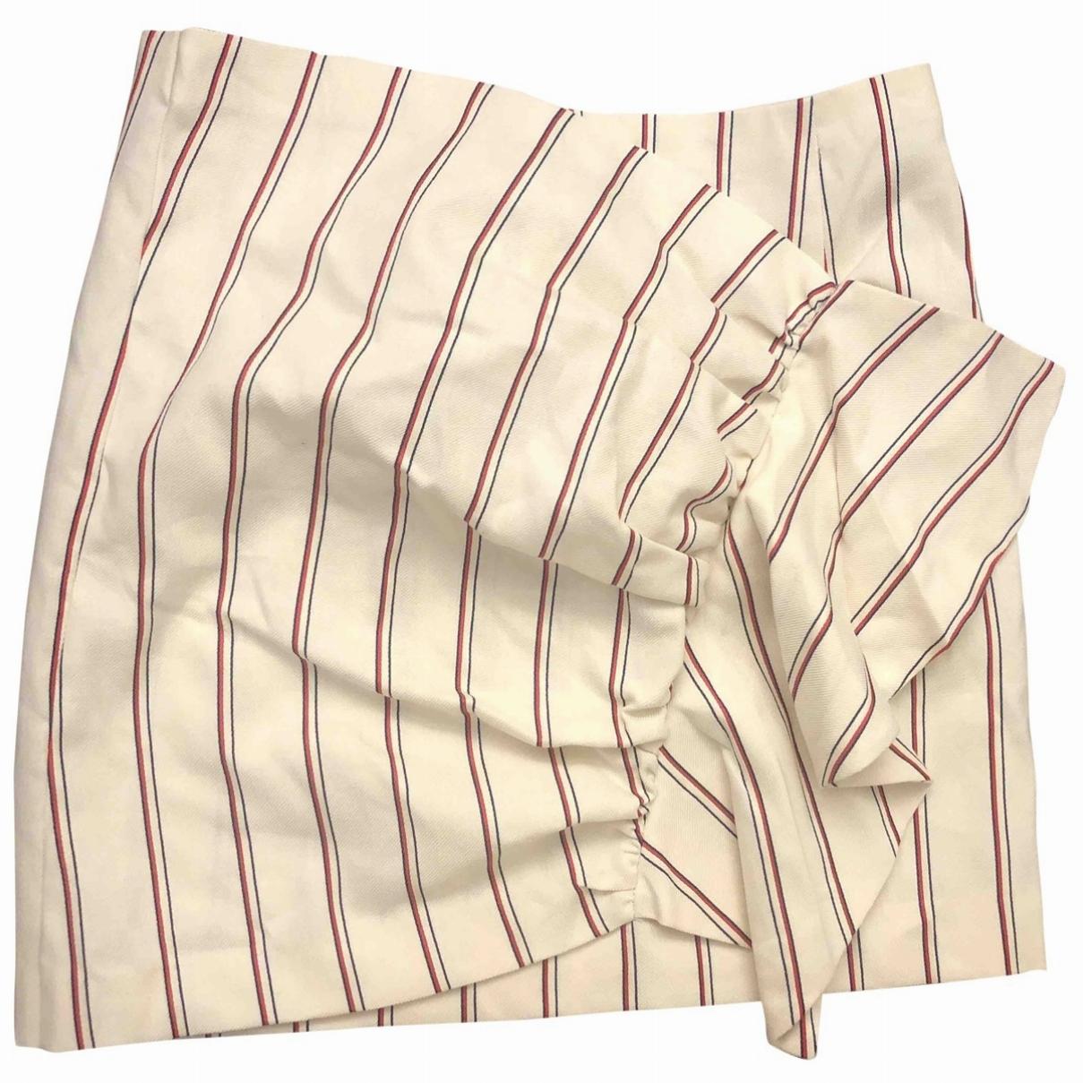 Ba&sh - Jupe   pour femme en coton - ecru