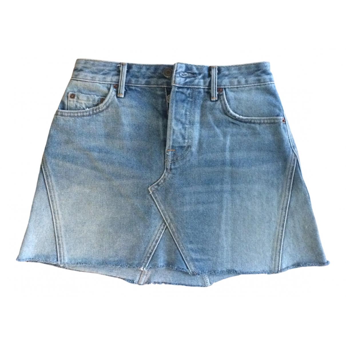 Grlfrnd \N Rocke in  Blau Denim - Jeans