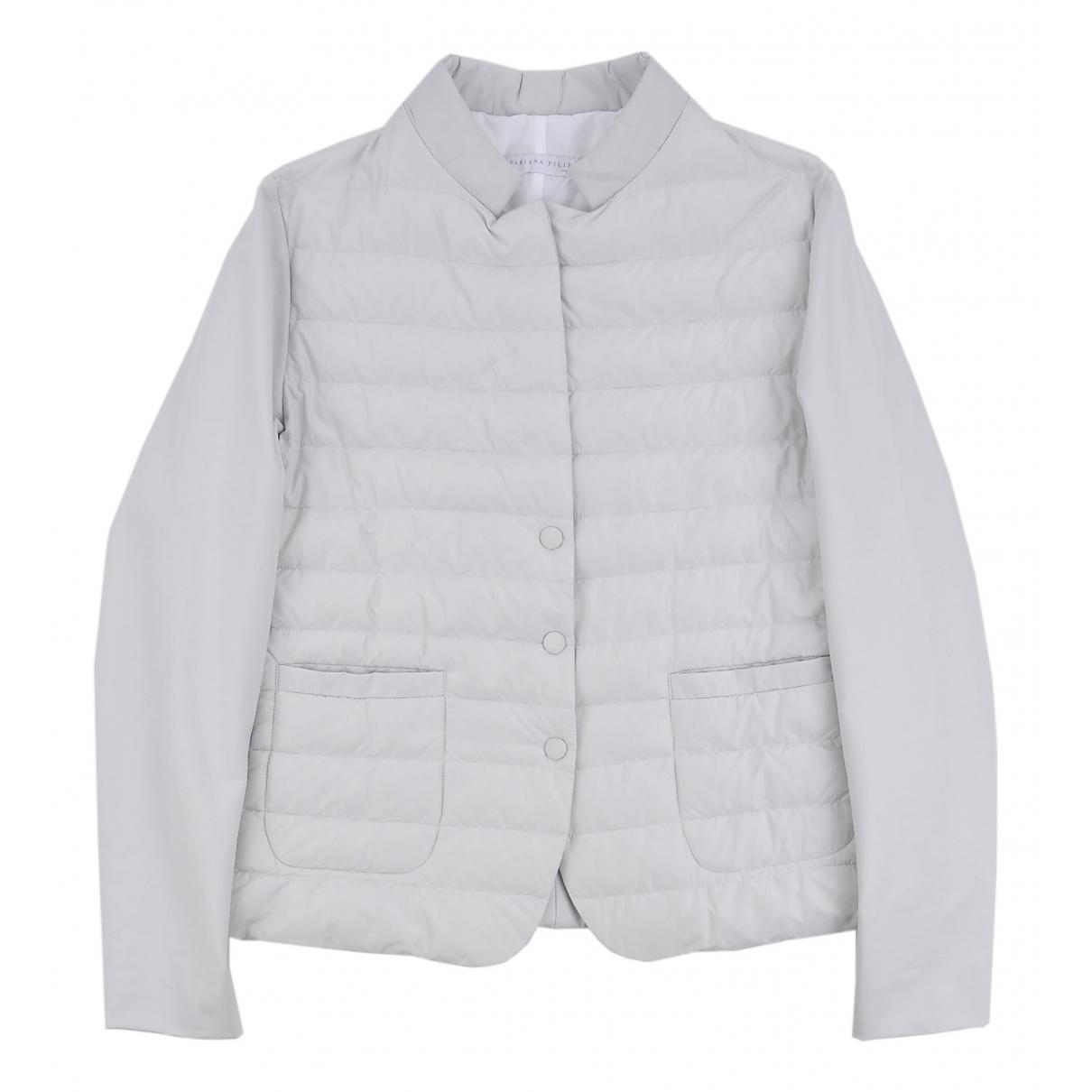 Fabiana Filippi N Grey coat for Women 44 IT