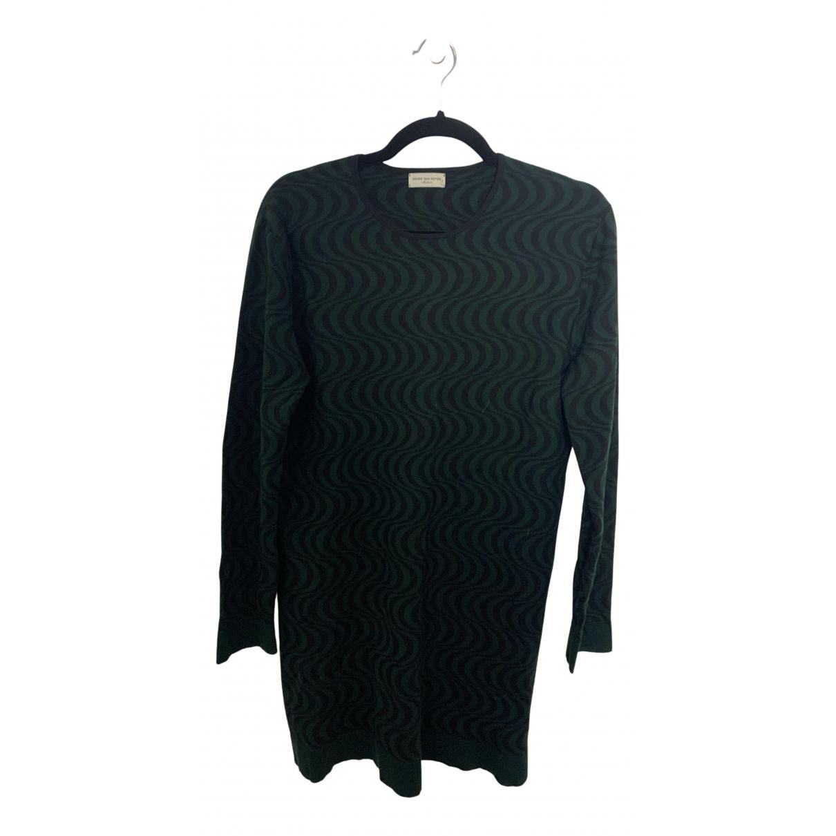 Dries Van Noten \N Kleid in  Gruen Wolle