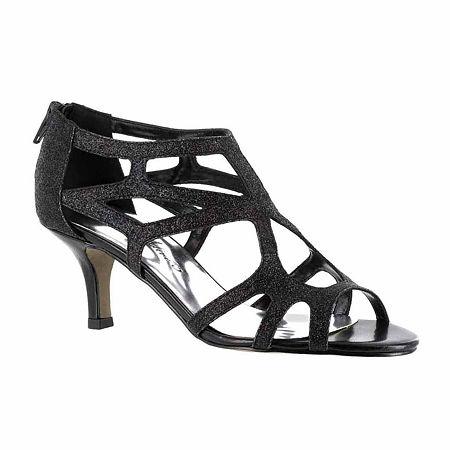Easy Street Womens Flattery Pumps Spike Heel, 6 Medium, Black