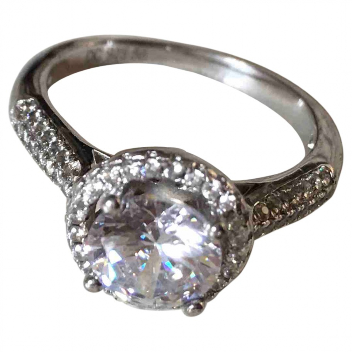 Non Signe / Unsigned Solitaire Ring in  Silber Silber