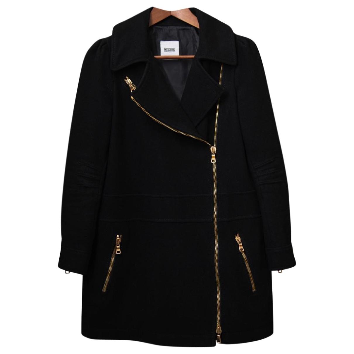Moschino Cheap And Chic - Manteau   pour femme en laine - noir