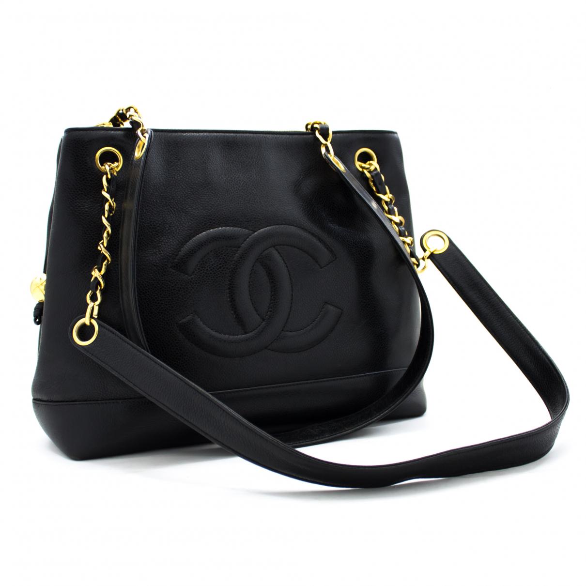Chanel - Sac a main   pour femme en cuir - noir