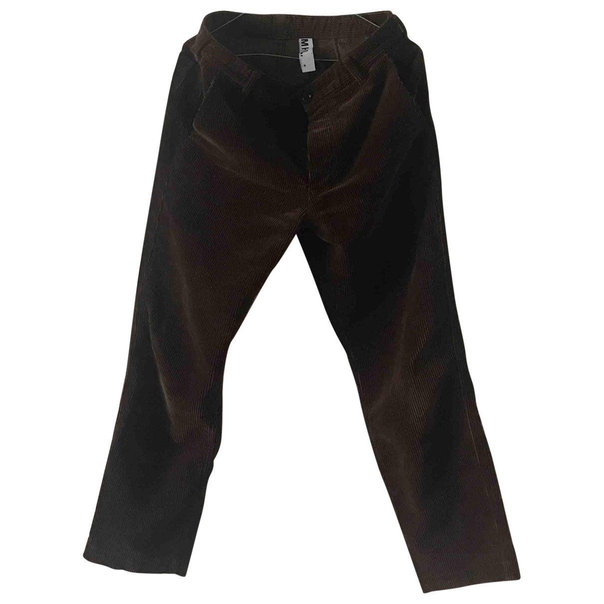 Pantalones en Algodon Marron Margaret Howell