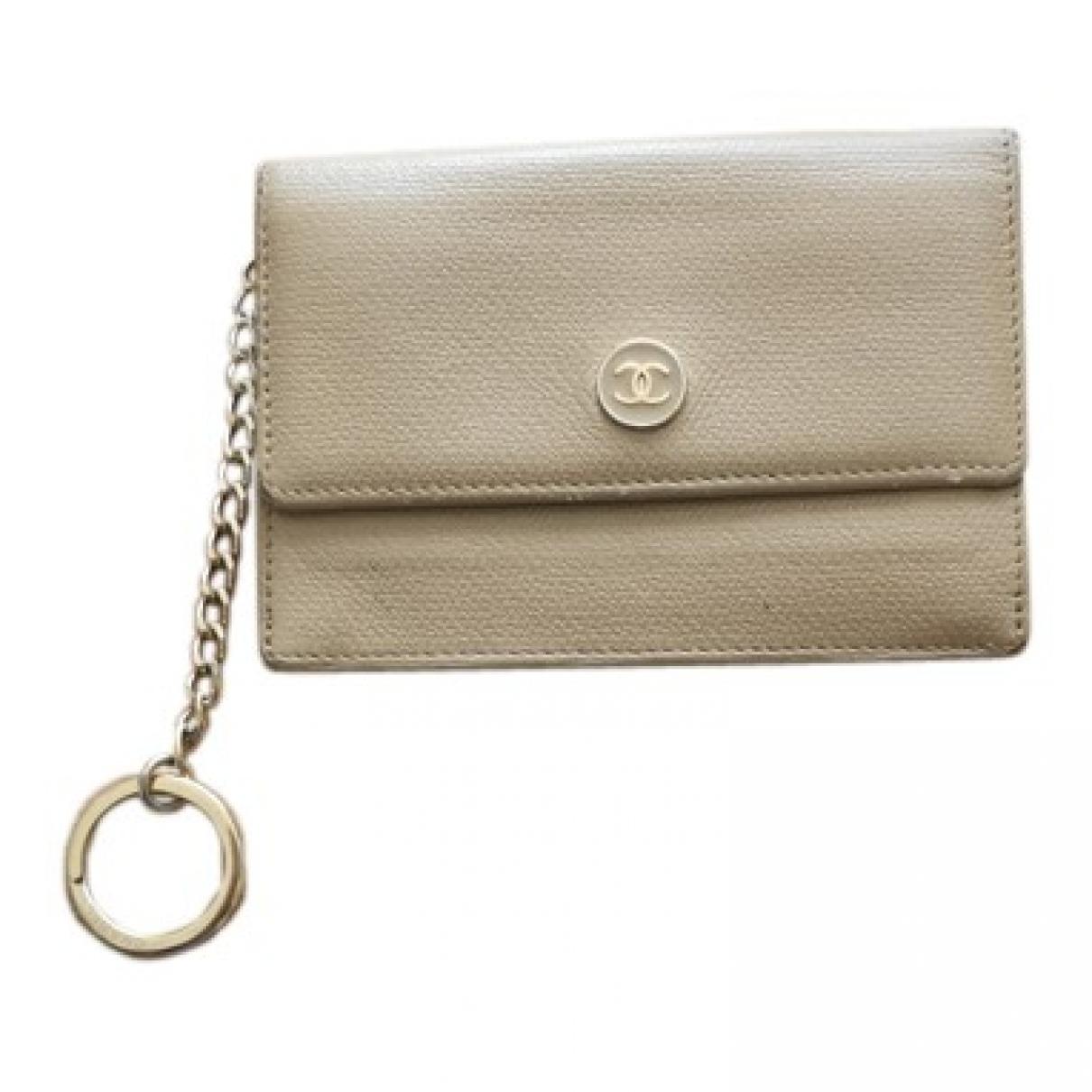Chanel - Petite maroquinerie   pour femme en cuir - beige