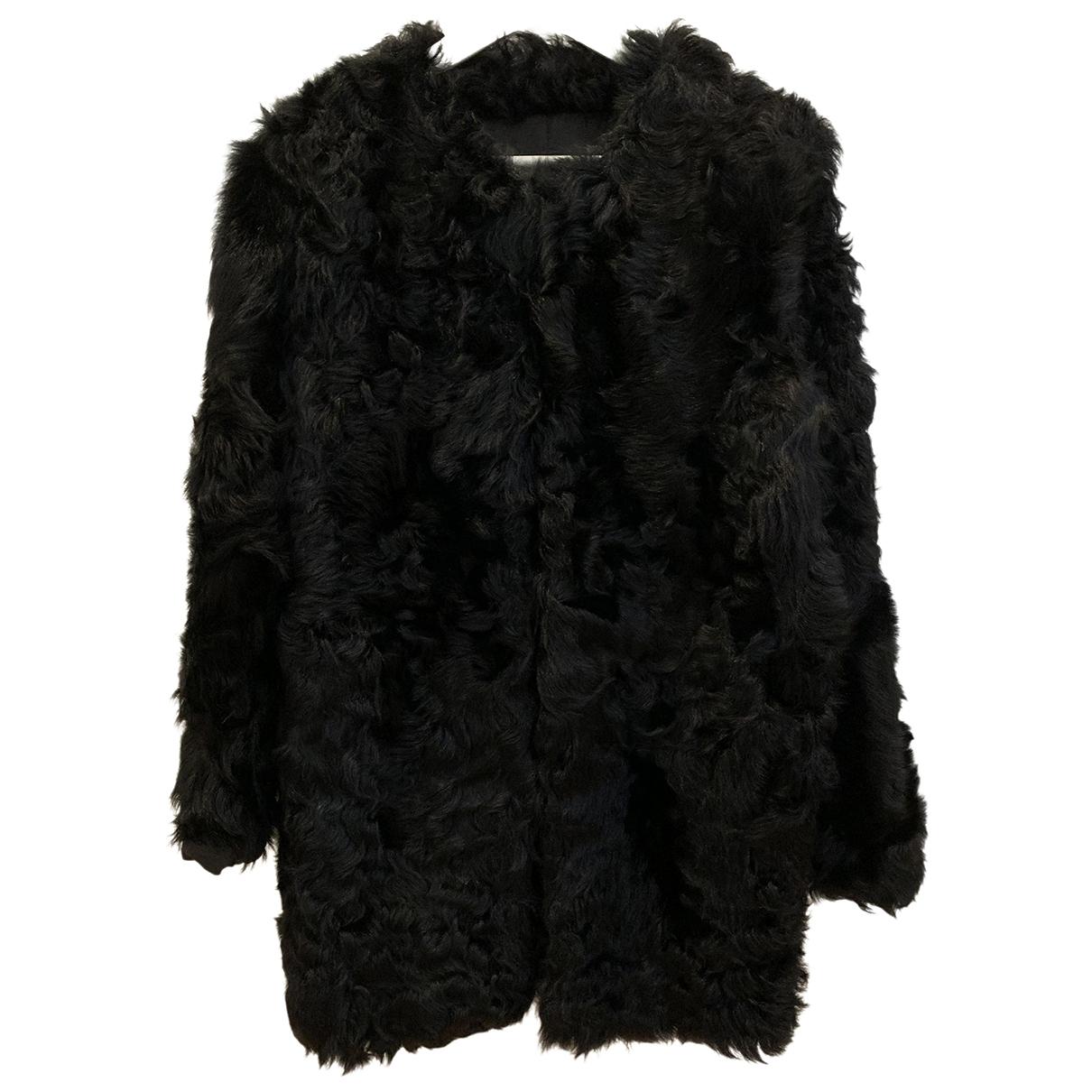 Mango \N Black Shearling coat for Women 36 FR