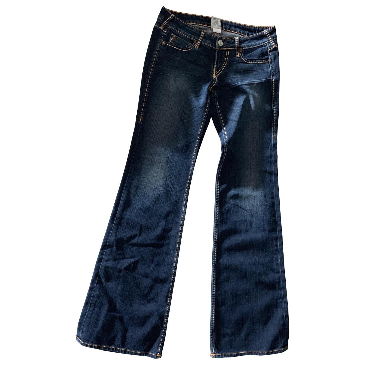 True Religion \N Navy Cotton - elasthane Jeans for Women 26 US