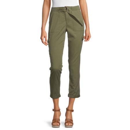 Liz Claiborne Womens Skinny Cargo Pant, 2 , Green