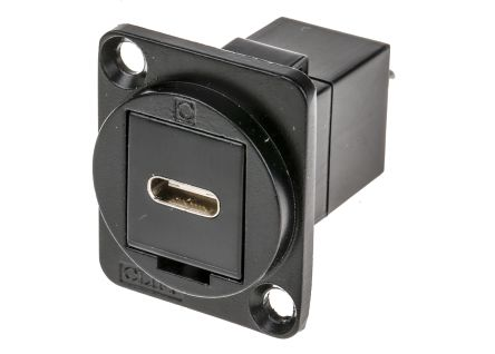 RS PRO USB Connector, Panel Mount, Female to Male C C, Straight- Dual Port