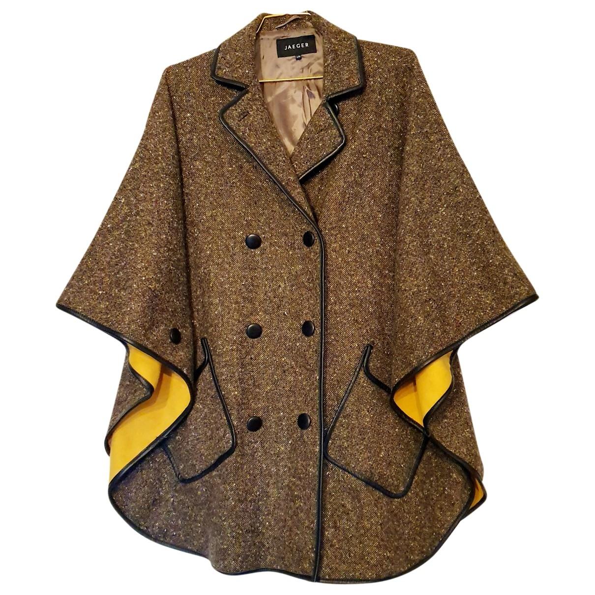 Jaeger \N Maentel in  Braun Wolle