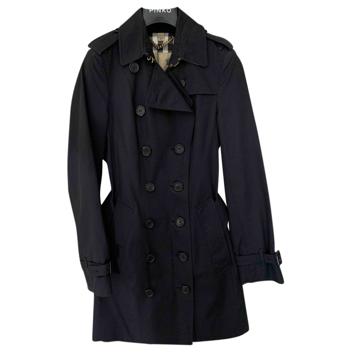 Burberry N Navy Cotton Trench coat for Women XXS International