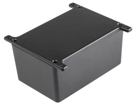 RS PRO Black Die Cast Aluminium Alloy Enclosure, Flanged, 120.5 x 80 x 59.2mm