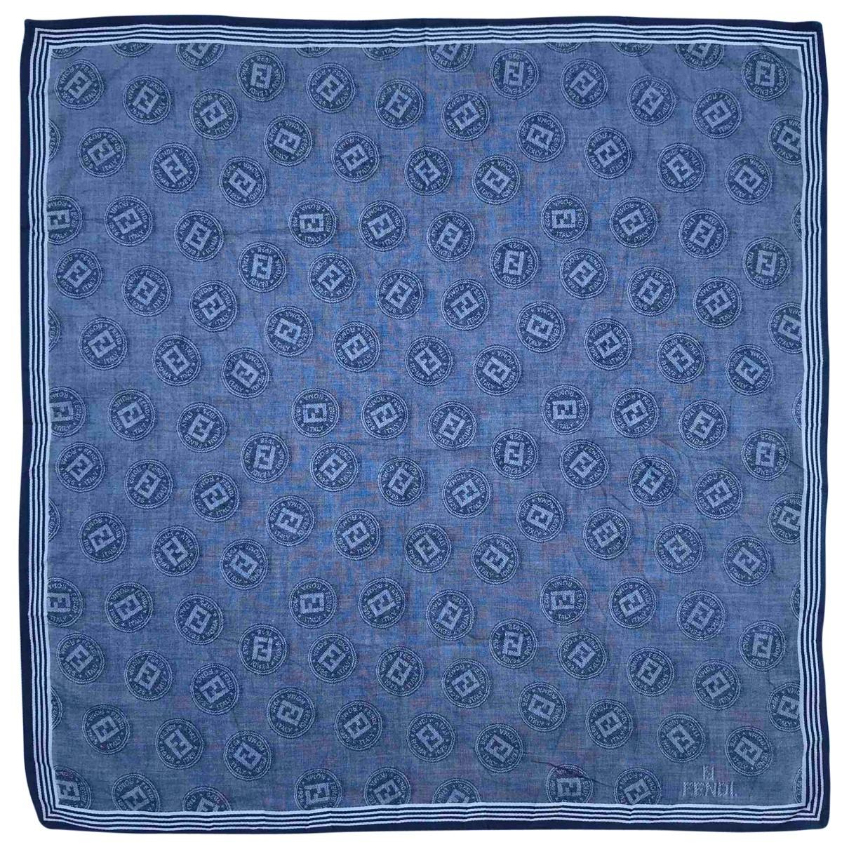 Fendi - Carre   pour femme en coton - bleu