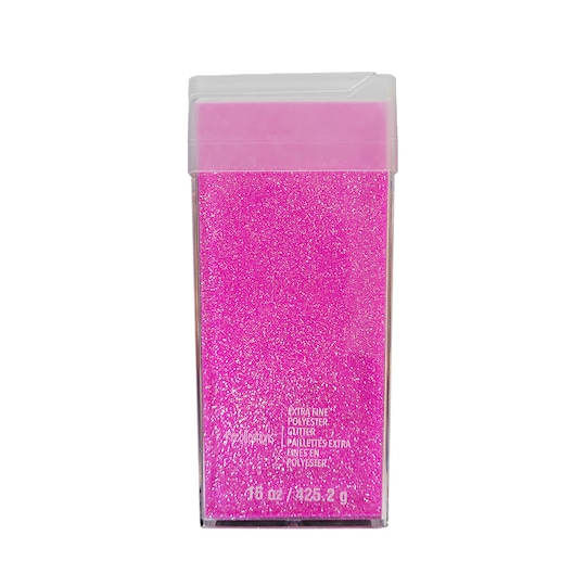Extra Fine Polyester Glitter By Recollections™ in Bubblegum | 15 oz | Michaels®