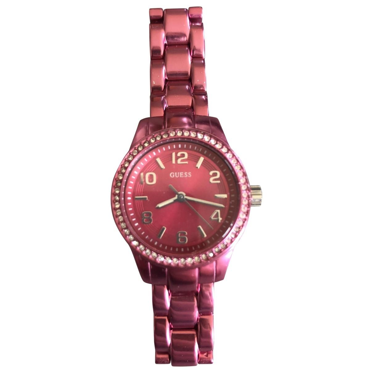 Guess \N Pink Steel watch for Women \N