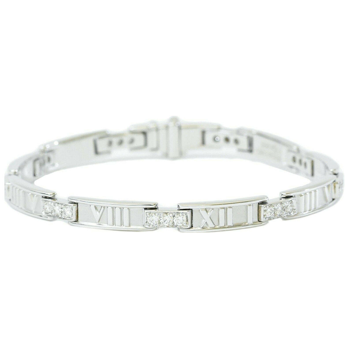 Tiffany & Co Atlas Armband in  Weiss Weissgold