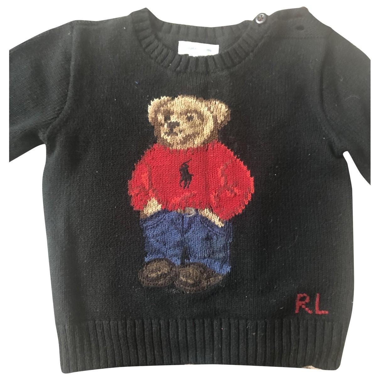 Ralph Lauren \N Pullover, StrickJacke in  Schwarz Baumwolle