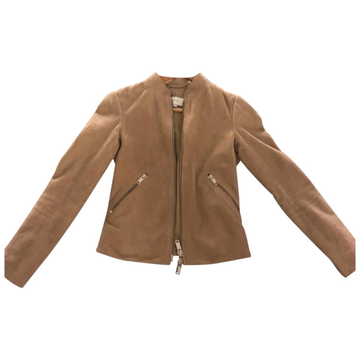 Reiss \N Beige Suede jacket for Women 4 UK